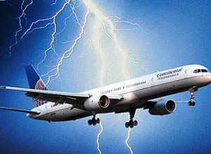 Lightning-on-aircraft