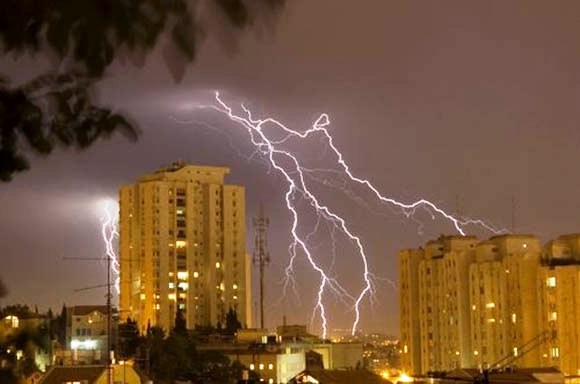 lightning-on-building
