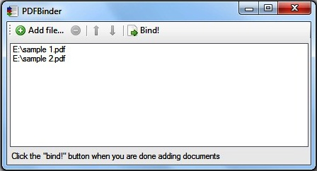 PDF-Binder screenshot