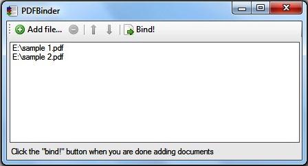 PDF-Binder screenshot