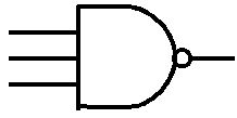 Three input NAND gate symbol photo