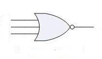 Three input NOR gate symbol photo