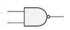 Two input NAND gate symbol photo