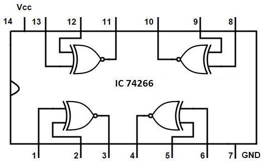 XNOR gate IC photo