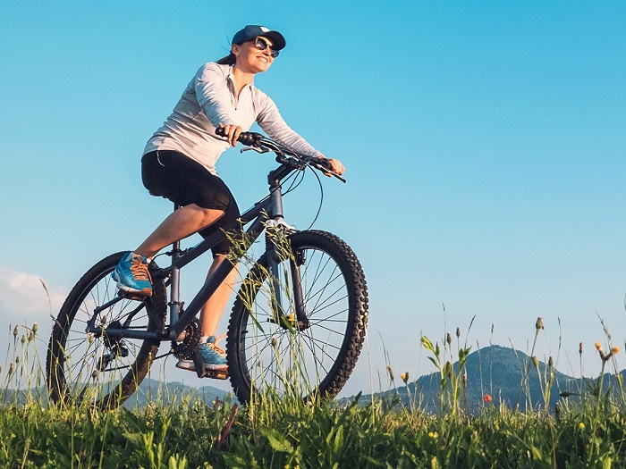 cycling helps to maintain cardiac health